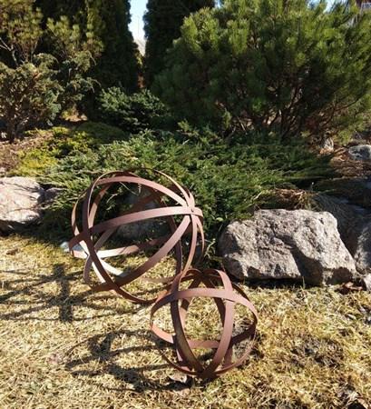 Шары декоративные ржавые большие (металл без покрытия) - фото 5010